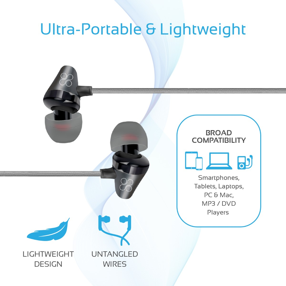 Promate Earphone With Microphone Premium Noise Cancelling In Ear Galaxy S3 Headphone Jack Diagram On Iphone 4 Wiring Technology And Professionally Tuned Drivers To Minimise Effort Maximise Both Sound Quality User Experience These Earphones Will Change The Way
